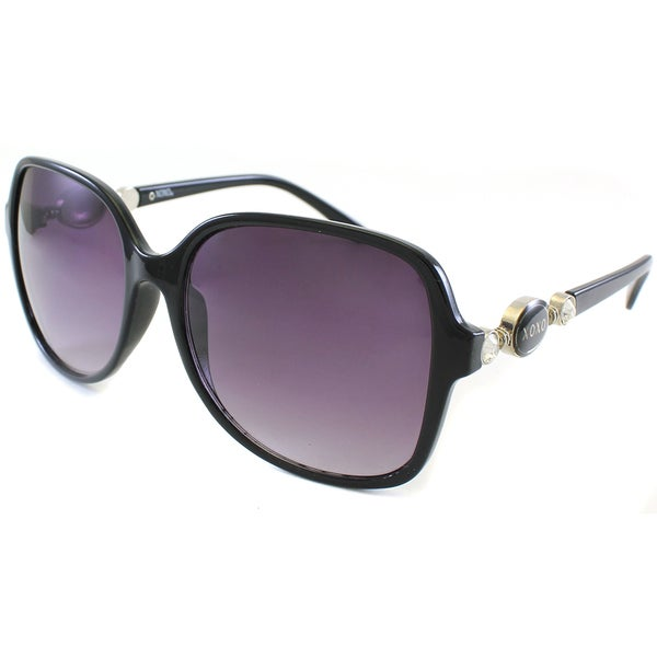 XOXO Women's 'Virtuo' Black Rhinestone Sunglasses