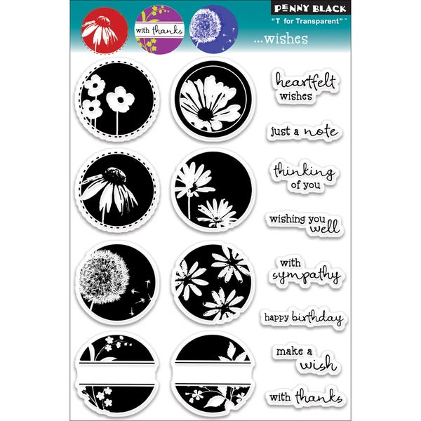 """Penny Black Clear Stamps 5""""X7.5"""" Sheet-...Wishes"""