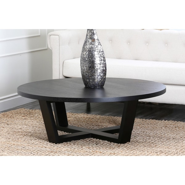 Abbyson Wilshire Round Espresso Coffee Table