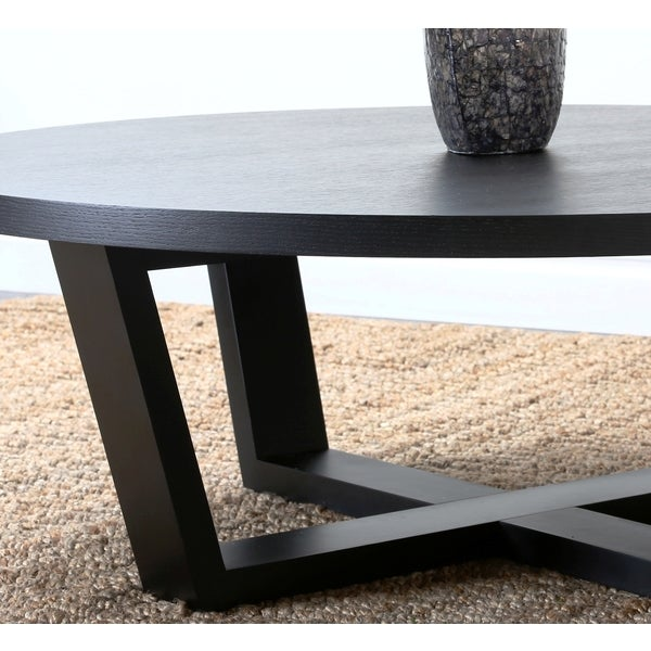 Abbyson Wilshire Round Espresso Coffee Table   Free Shipping Today    Overstock.com   14772363
