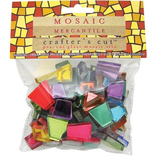 Crafter's Cut Colored Mirrors 1/2 Pound/Pkg-Assorted