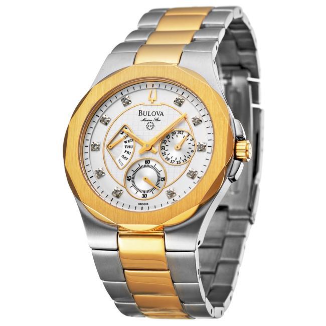 Bulova Mens Marine Star Two tone Steel Quartz Diamond Watch