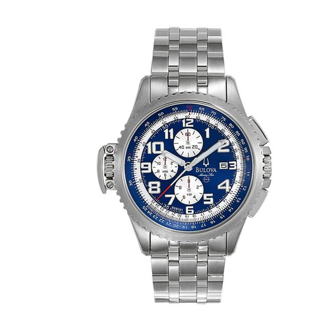 Bulova Mens Marine Star Stainless Steel Chronograph Quartz Watch
