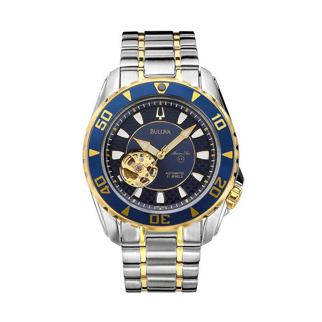 Bulova Mens Marine Star Two tone Stainless Steel Automatic Watch