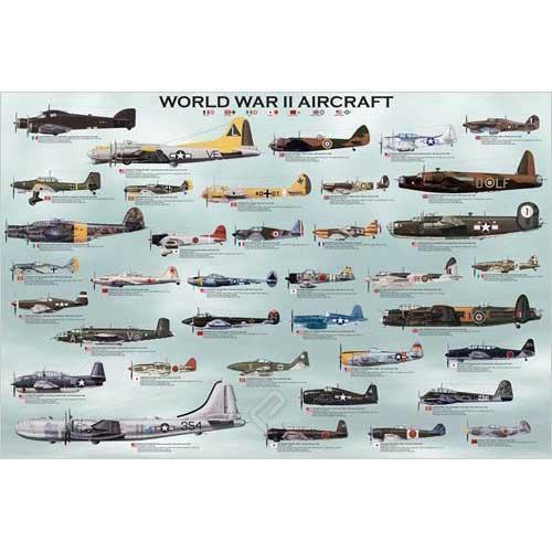 Eurographics Inc 1000-piece WWII Aircraft Puzzle