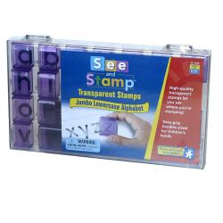 See and Stamp Transparent Jumbo Lowercase Alphabet Stamps