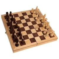 Deluxe 18-inch Folding Chess Set - 18""