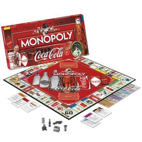 Coca Cola 125th Anniversary Collector's Edition Monopoly