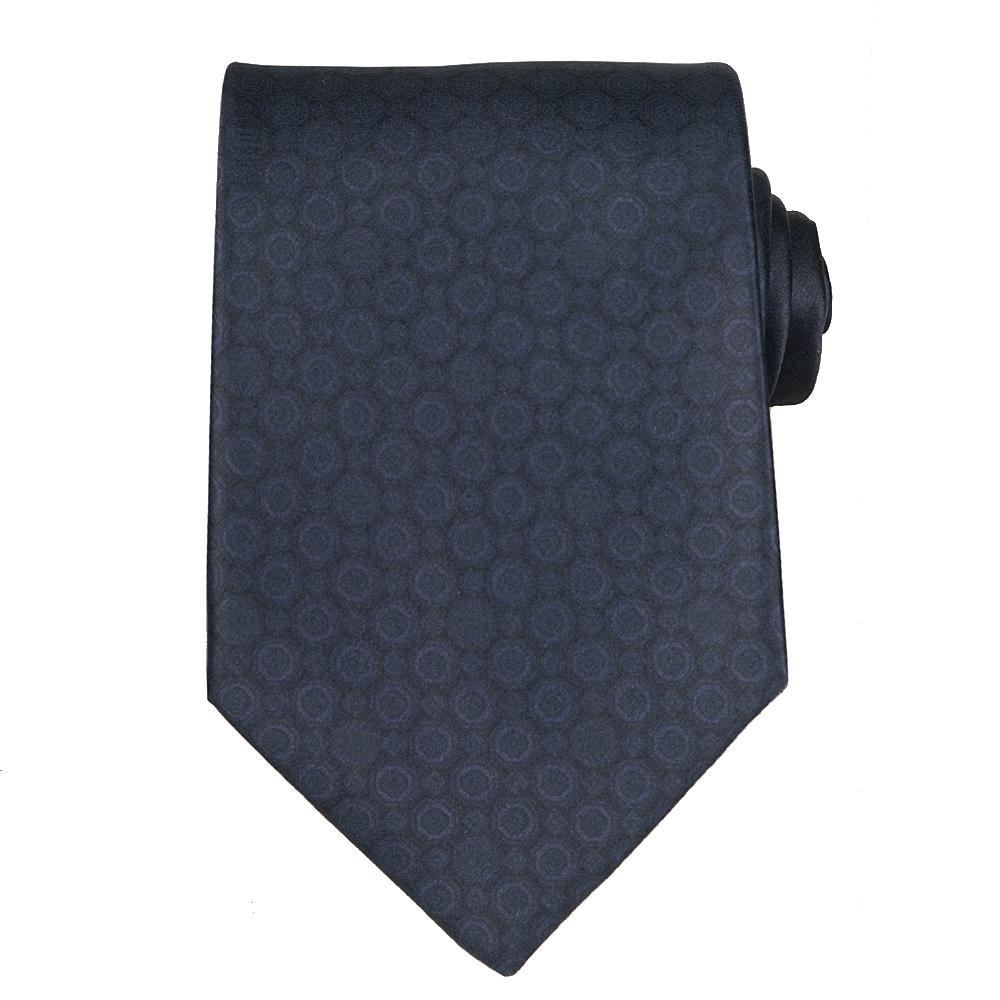 Versace Men's Silk Navy Patterned Tie