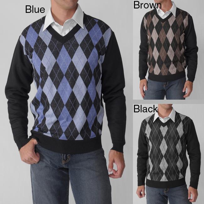 fc900d07f44 Empra Men's V-neck Argyle Sweater
