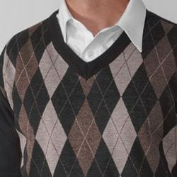 Empra Men's V-neck Argyle Sweater - Thumbnail 2