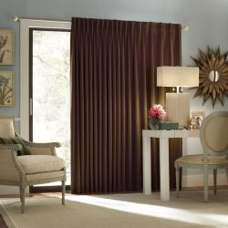 Eclipse Satin Stripe 84-inch Thermal Patio Door Panel