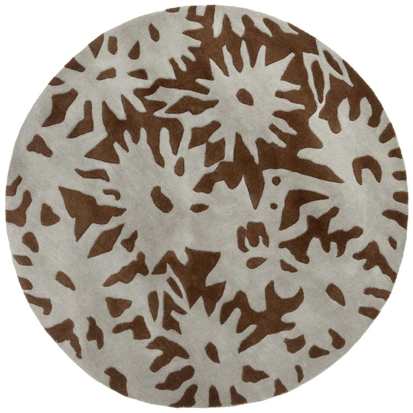 Hand-tufted Luscious Brown Wool Rug (8' Round)