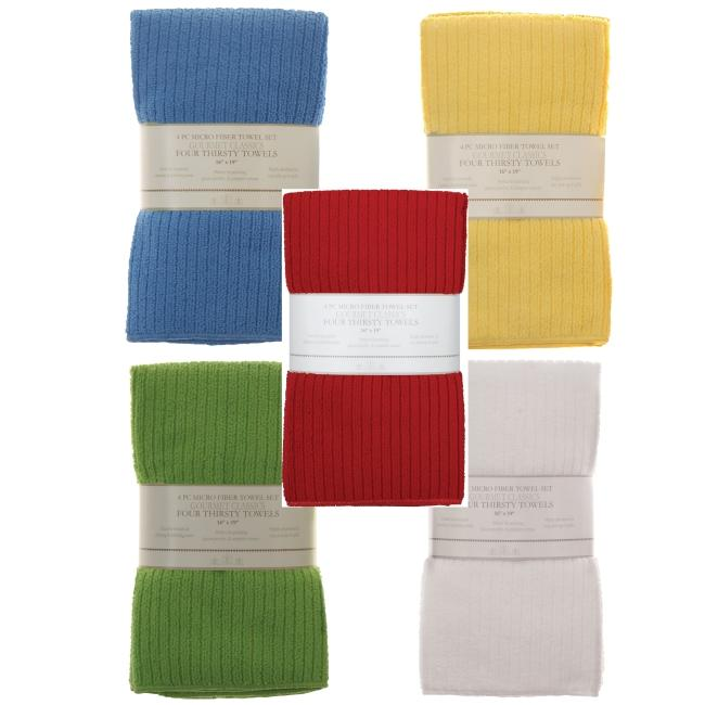Microfiber Kitchen Towel/ Bar Mops (Set of 4)