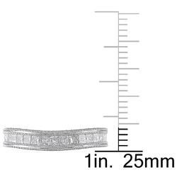 Miadora 18k White Gold Women's 1ct TDW Diamond Curved Wedding Band (G-H, SI1-SI2) - Thumbnail 2