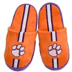 Clemson Tigers Striped Slide Slippers