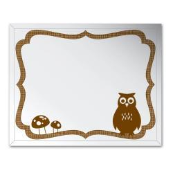 Frameless 16x20 Owl Wall Mirror - Thumbnail 1