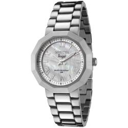Invicta Women's Angel White Mother of Pearl Dial Stainless Steel Watch