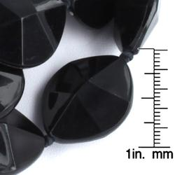 West Coast Jewelry Silvertone Faceted Bead Double Strand Necklace - Thumbnail 2