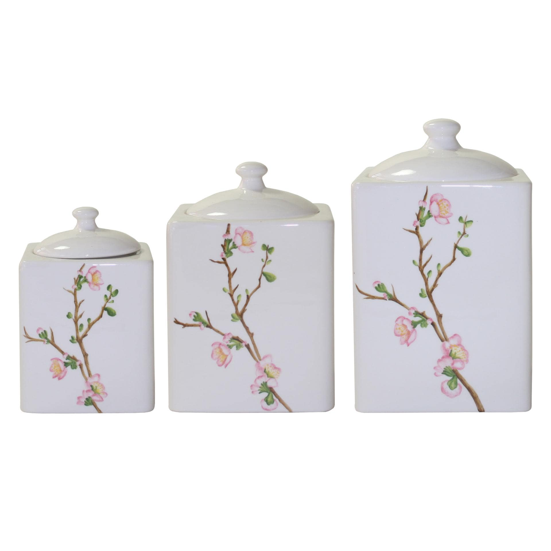 Corelle 'Cherry Blossom'  3-piece Canister Set