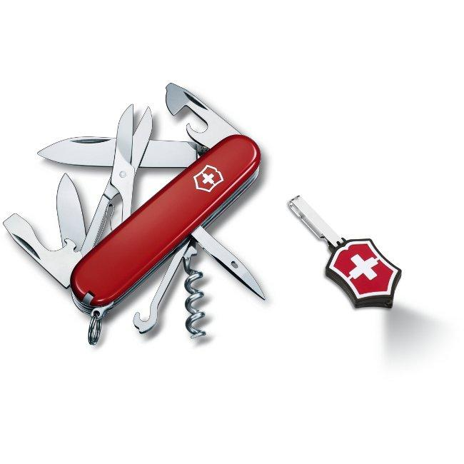 Swiss Army Climber Pocket Knife and Microlight Set