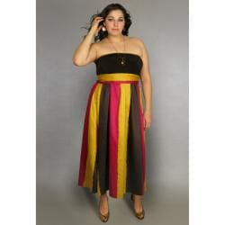 Ines Collection Women S Plus Size Strapless Maxi Dress Free Shipping On Orders Over