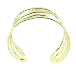 West Coast Jewelry Goldtone Cut-out Cuff Bracelet - Thumbnail 1