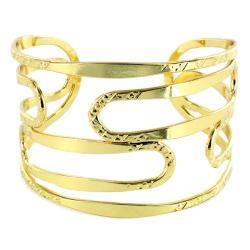West Coast Jewelry Goldtone Cut-out Cuff Bracelet