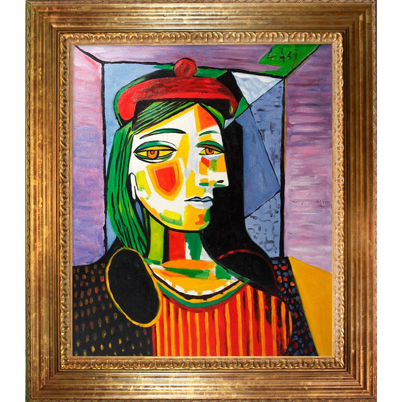 shop picasso paintings femme au beret rouge w vienna gold. Black Bedroom Furniture Sets. Home Design Ideas