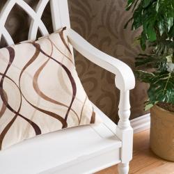 Loma Antique White Finish Wood Bench - Thumbnail 1