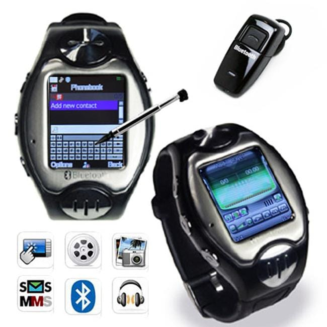 Unlocked MW09 GSM Touch Screen Camera Bluetooth Multimedia Watch Phone - Thumbnail 0