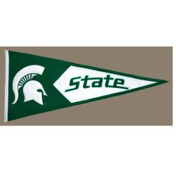 Michigan State Spartans Classic Wool Pennant - Thumbnail 2