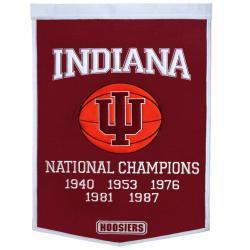 Indiana Hoosiers NCAA Basketball Dynasty Banner - Thumbnail 1