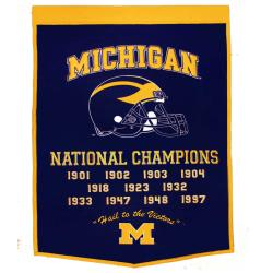 Michigan Wolverines NCAA Football Dynasty Banner