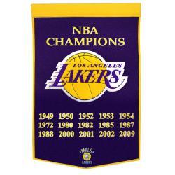 Los Angeles Lakers NBA Dynasty Banner - Thumbnail 0