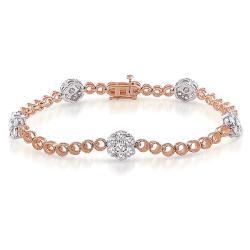 Miadora Signature Collection 14k Two-tone Gold 2 1/2ct TDW Diamond Bracelet