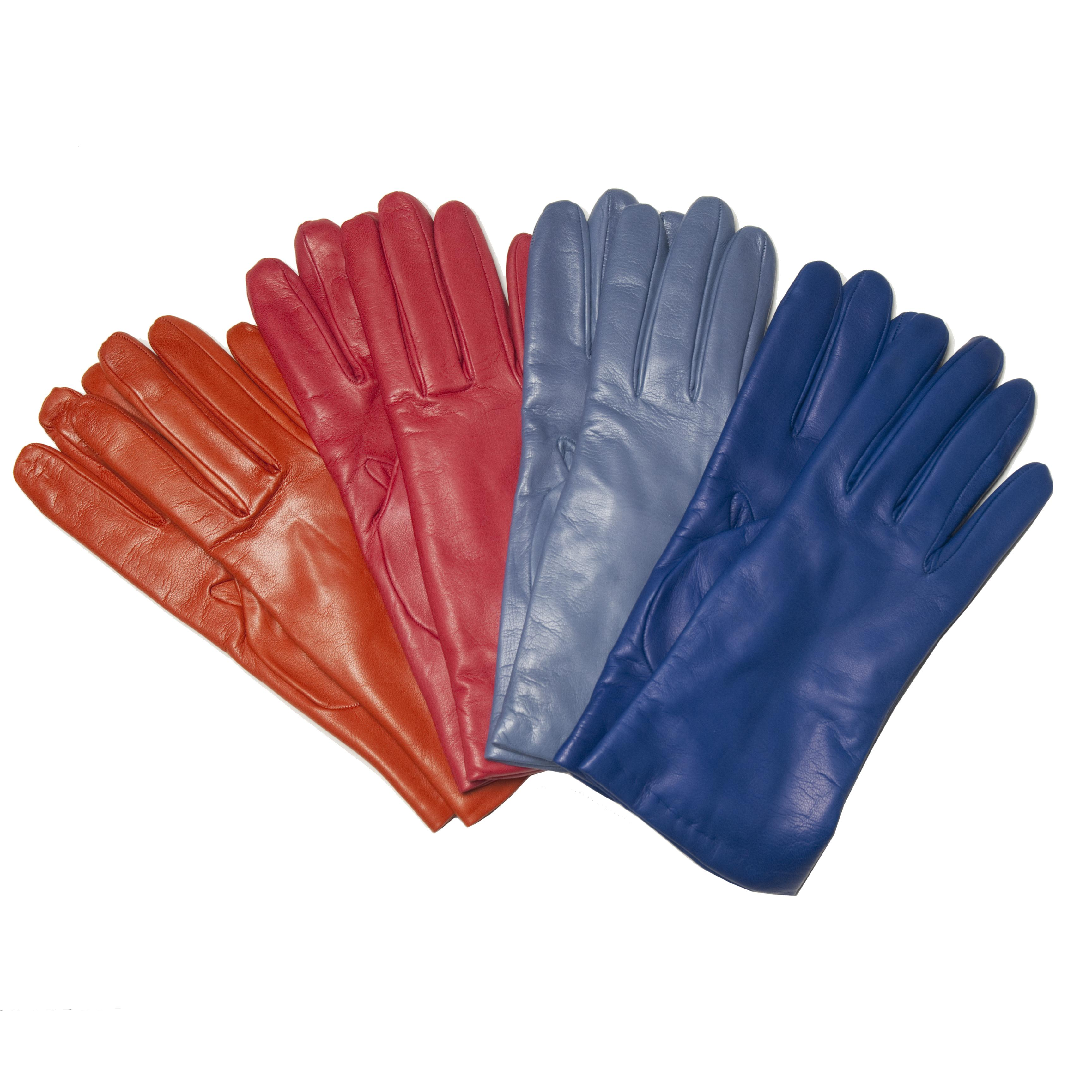 Womens Italian Made Cashmere Lined Leather Gloves