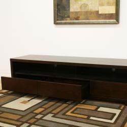 Jairo Dark Brown Wood Modern TV Stand - Thumbnail 1