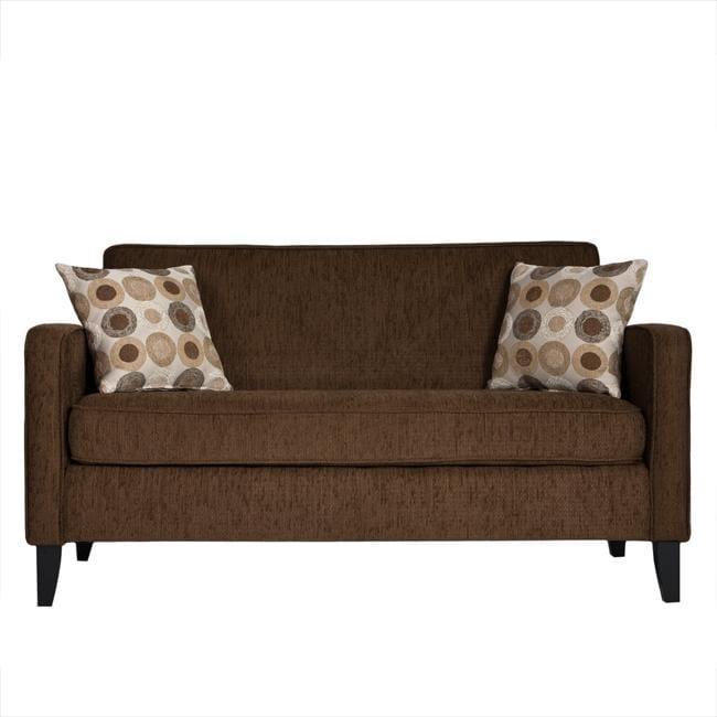 Gabi Dark Brown Chenille Apartment Size Sofa Free