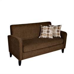 Gabi Dark Brown Chenille Apartment Size Sofa Free Shipping Today Overstock Com 13323403