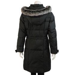 UTEX Women's Faux Fur Hooded Down Coat