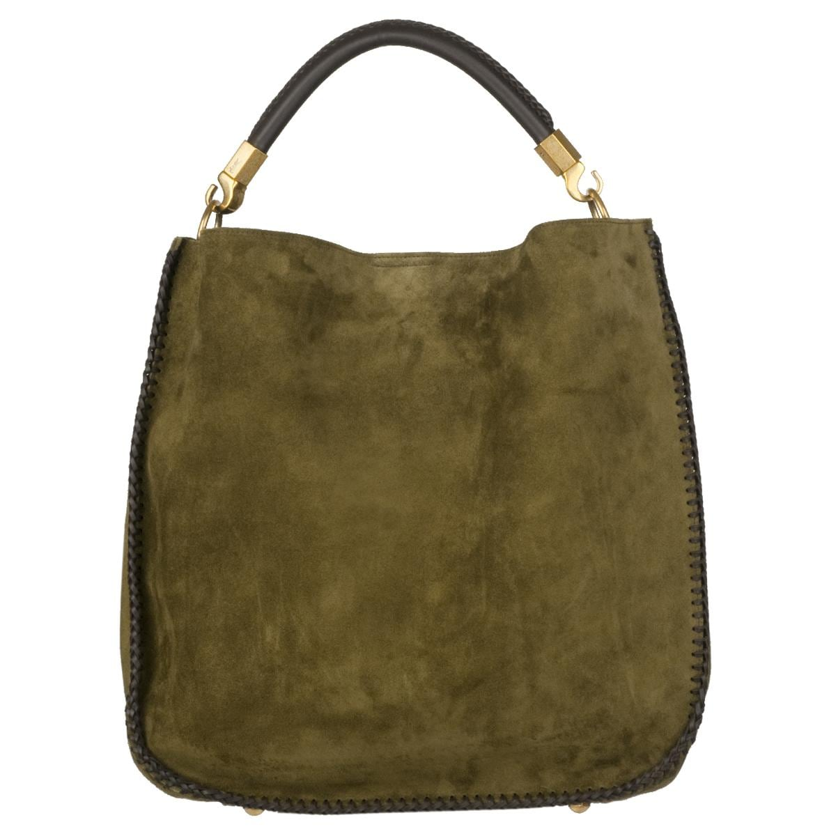 Yves Saint Laurent Green Suede Hobo Bag - Free Shipping Today ...