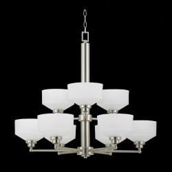 Titan Energy Star 9-light Satin Nickel Chandelier - Thumbnail 1