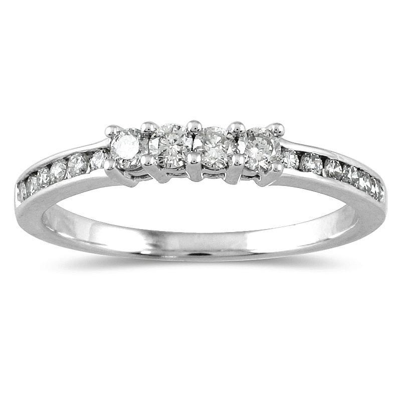 Marquee Jewels 10k White Gold 1/3ct TDW Diamond Ring (I-J, I1-I2)