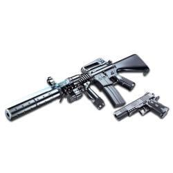 Spring M16A6Y Assault Rifle Pistol Combo Grip Airsoft Gun - Thumbnail 0
