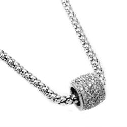 Beverly Hills Charm Silver 1ct TDW Diamond Glitter Ball Necklace (H-I, I1-I2)