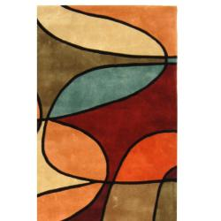 Safavieh Handmade Rodeo Drive Modern Abstract Multicolored Wool Rug (8' x 11')