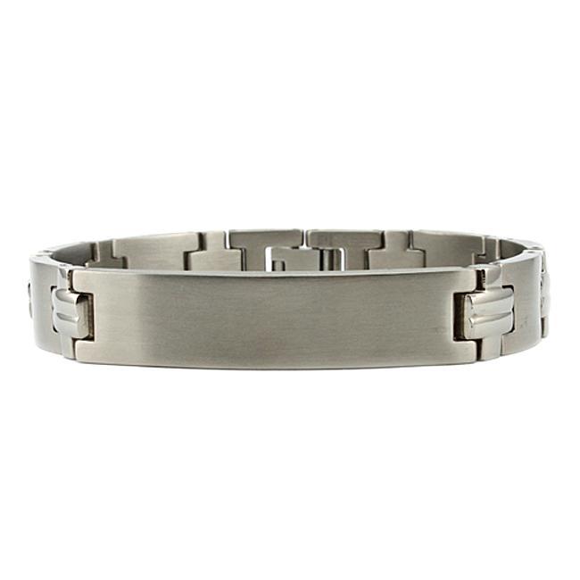 Men's Titanium Watch Link ID Bracelet