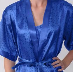 Happie Brand Women's 2-piece Satin Robe/ Chemise Set