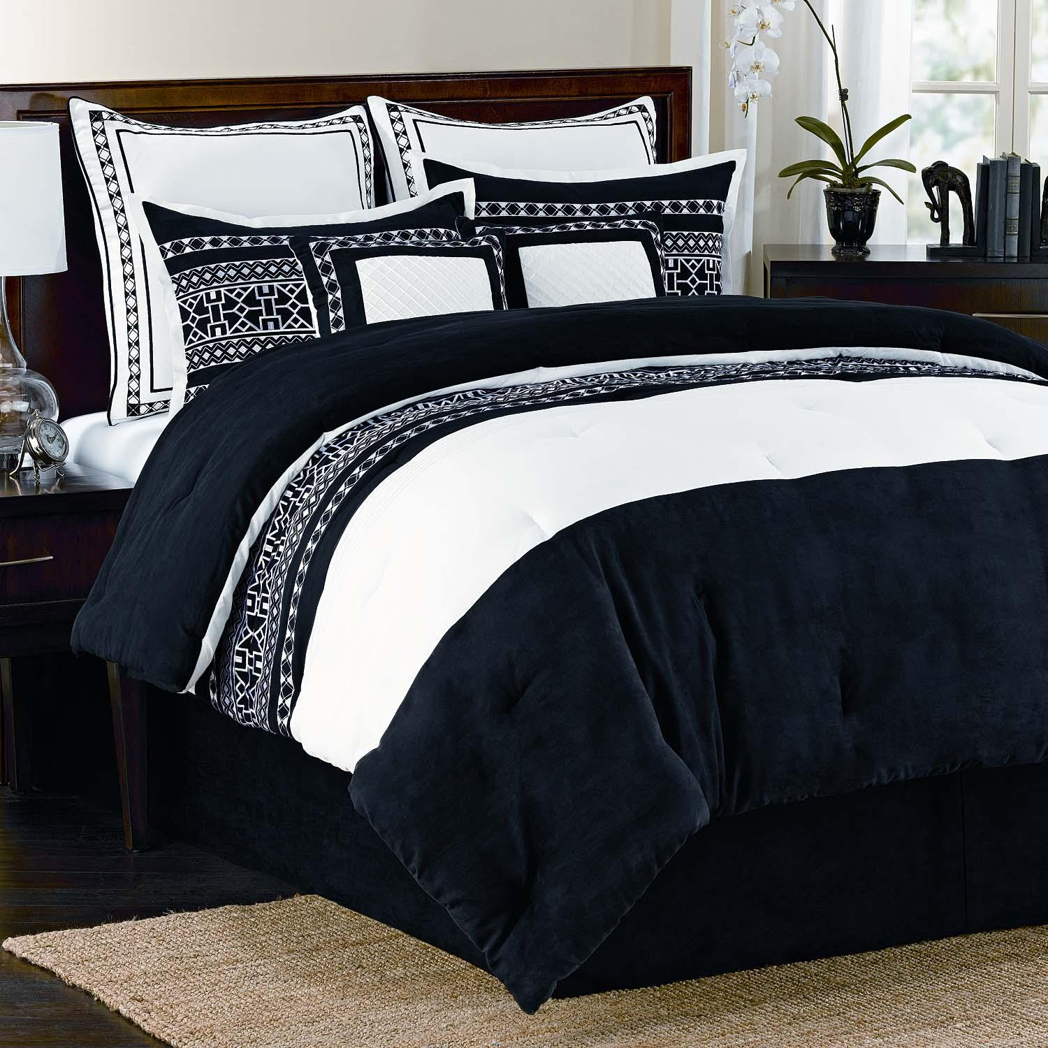Fair Isle 8 Piece Queen Size Comforter Set Free Shipping